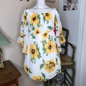 NEW Blush Sunflower Maternity Top Size S